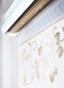 Рулонные MGS-Зебра Ткань: Зебра Орнамент 7125 золото