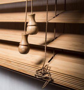 Горизонтальные Бамбук 50мм Полоса: Кофе