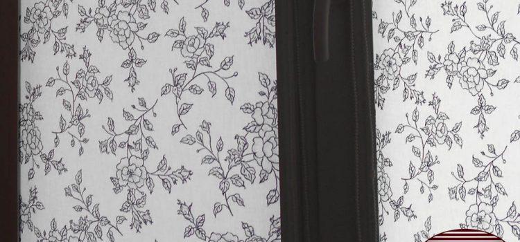 """Рулонные шторы UNI2 """"Китайская роза черный"""""""