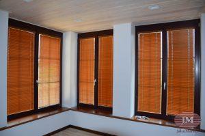 Горизонтальные жалюзи 25мм из бамбука — микрорайон Новогорск