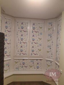 Рулонные шторы UNI2 в детскую комнату - г.Москва, ул.Генерала Глаголева, Метро Октябрьское поле