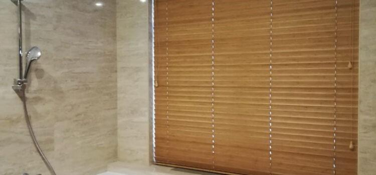 Горизонтальные жалюзи 50мм из материала Бамбук — Московская область, КП «Благовещенка»