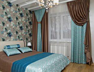 Шторы для спальни № 1