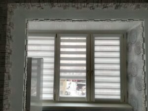 Рулонные шторы Зебра в кассетной системе для кухни - Московская область, г.Фрязино