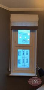 Римские шторы из прозрачной ткани - г.Москва, ул.Полины Осипенко