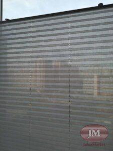 Шторы плиссе в системе Р1615 с тканью Челси светло серый - Скандинавский бульвар