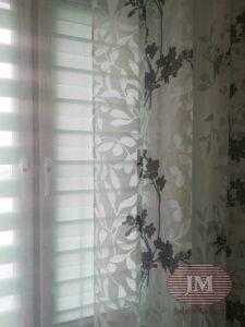 Рулонная штора из ткани Зебра Стандарт бирюзовый - Павшинская пойма