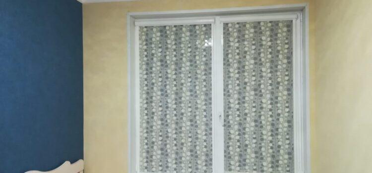 Рулонные шторы в кассетной системе UNI2 c тканью Элегия магнолия - г.Москва, ЖК Спутник, ул.Липовой Рощи