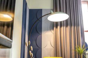 Шторы из коллекции тканей Structure и Balance для гостиной