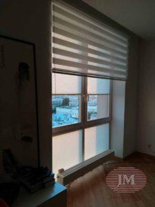 Рулонная штора Зебра и шторы плиссе - Газетный переулок