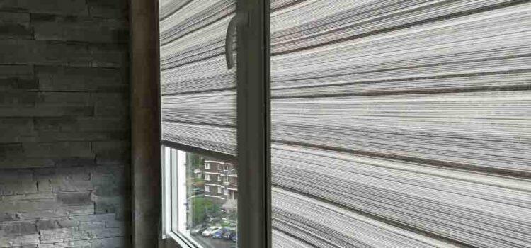 Рулонные шторы  в системе UNI2 c тканью Ямайка — Москва, ул.Татьянин Парк