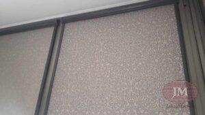 Рулонные шторы в системе UNI2, фурнитура тёмно-серая, ткань Самира коричневый - ул.Серпуховской Вал