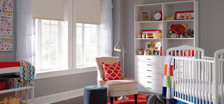 Жалюзи и рулонные шторы для детской комнаты