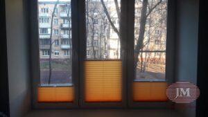 Шторы-плиссе в системе Р1615 из ткани Краш перла шафран - Москва, Пинский проезд