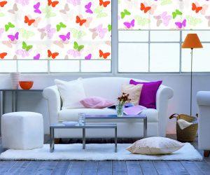 Рулонные MINI ткань: Бабочки 4082