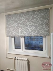 Рулонные шторы LVT 32, ткань Анжу серая — ул. Братиславская