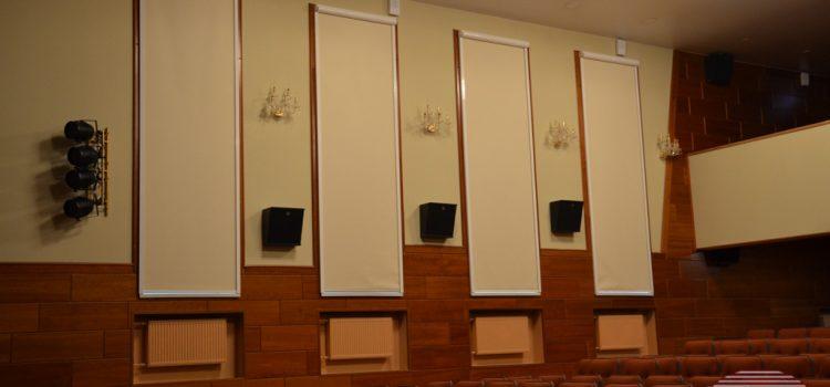 Рулонные шторы ЛВТ в кассете с направляющими — МО, г. Пушкино, оздоровительный комплекс