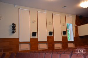 Рулонные шторы ЛВТ в кассете с направляющими - МО, г. Пушкино, оздоровительный комплекс