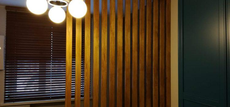 Горизонтальные жалюзи из дерева 50 мм — Москва, Осенний бульвар, Метро Крылатское