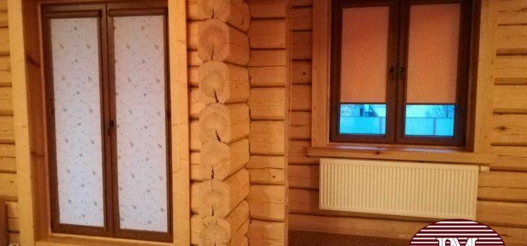 Рулонные шторы Уни 2 , фурнитура «Золотой дуб» — МО, Истринский район, деревня Зеленково