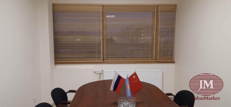 Горизонтальные жалюзи из бамбука 25 мм — г. Москва, Ленинский проспект