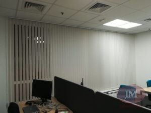 Вертикальные тканевые жалюзи для офиса - г.Москва, Варшавское шоссе