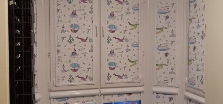 Рулонные шторы в кассетной системе для детской комнаты — г.Москва, ул.Генерала Глаголева, Метро Октябрьское поле