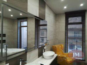 Изделия из Дерева 50мм (цвет Красное) с декоративной лесенкой для ванной комнаты - Истра, ул.Парковая