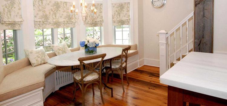 Шторы для эркера в интерьере, эркерные шторы для гостиной и кухни