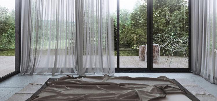 Шторы для панорамных окон