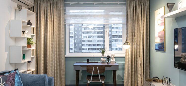 Шторы из коллекции тканей Manhattan и Impulse для гостиной
