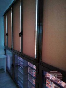 Система рулонных штор MINI установленная на балконе - МО, г.Одинцово