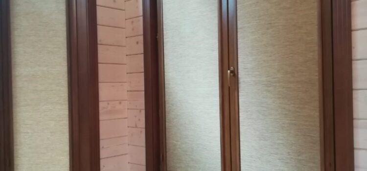 Рулонные шторы в системе UNI2, фурнитура золотой дуб — МО, п.Малаховка