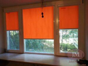 Рулонные шторы в системе UNI2 с тканью Альфа оранжевый - г.Зеленоград