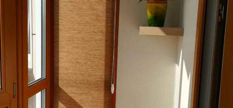 Рулонная штора в системе MINI из ткани Сафари св.коричневый — Красногорский бульвар