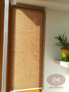 Рулонная штора в системе MINI из ткани Сафари св.коричневый - Красногорский бульвар