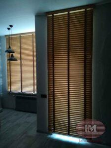 Горизонтальные жалюзи 50мм Бамбук с декоративной тесьмой