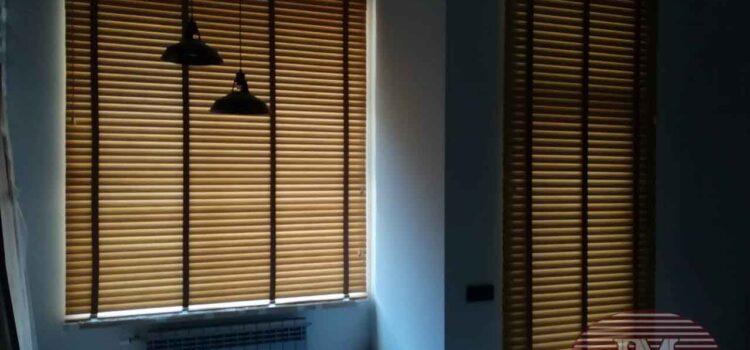 Горизонтальные жалюзи 50мм Бамбук с декоративной тесьмой — ЖК Символ, проезд Невельского