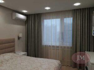 Портьеры для гостиной и спальни на декоративном подкладе из коллекции Espocada и DayLight