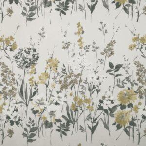 "Ткань 350 ""Flower art"" / 23 Wild meadow Charcoal"