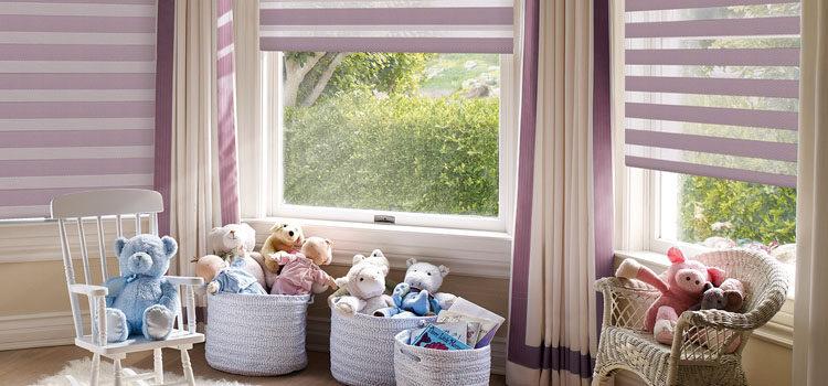 Рулонные шторы зебра в детскую, ткани день-ночь для детей