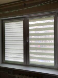 Рулонные шторы Зебра в кассетной системе UNI2, ткань Стандарт фисташковый - Ул.13 Парковая
