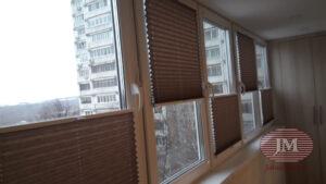 Шторы-плиссе в системе Р1615 из ткани Тигрис перла коричневый - Москва, ул. Инессы Арманд