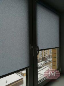 Рулонные шторы в системе MINI из ткани Шёлк и Рябина - г.Видное ЖК Северный квартал