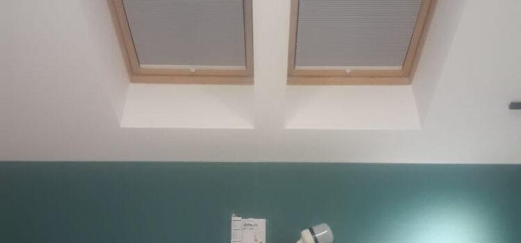 Шторы плиссе для мансарды из ткани Гофре Сатин ВО св.серый в системе Р2612 — МО, п.Тучково