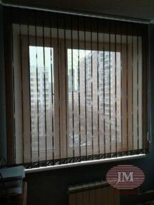 Вертикальные тканевые жалюзи из ткани СКРИН - г.Москва, ул.Народного Ополчения
