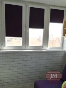 Кассетная система УНИ2 с тканью Омега баклажан - г.Красногорск, ул.Циолковского