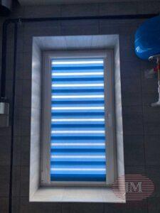 Рулонные шторы Зебра в системе UNI2 из ткани Стандарт - Серпуховской район, д.Старые Кузьменки
