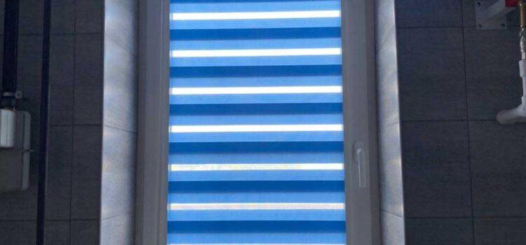 Рулонные шторы Зебра в системе UNI2  из ткани Стандарт — Серпуховской район, д.Старые Кузьменки