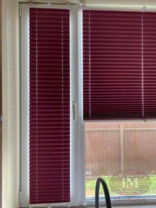 Шторы плиссе Р1615 из ткани Ноктюрн блекаут лиловый - Серпуховской район, д.Старые Кузьменки